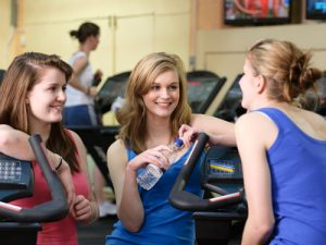 Challenging Yourself Chatting In The Gym