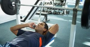 Challenging Yourself On Your Phone In The Gym