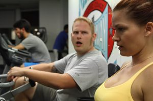 Challenging Yourself People Watching In The Gym