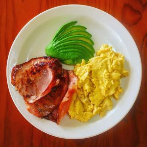 Scrambled Eggs With Bacon & Avocado Meal Option