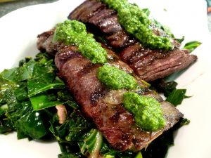 Steak With Greens Meal Option