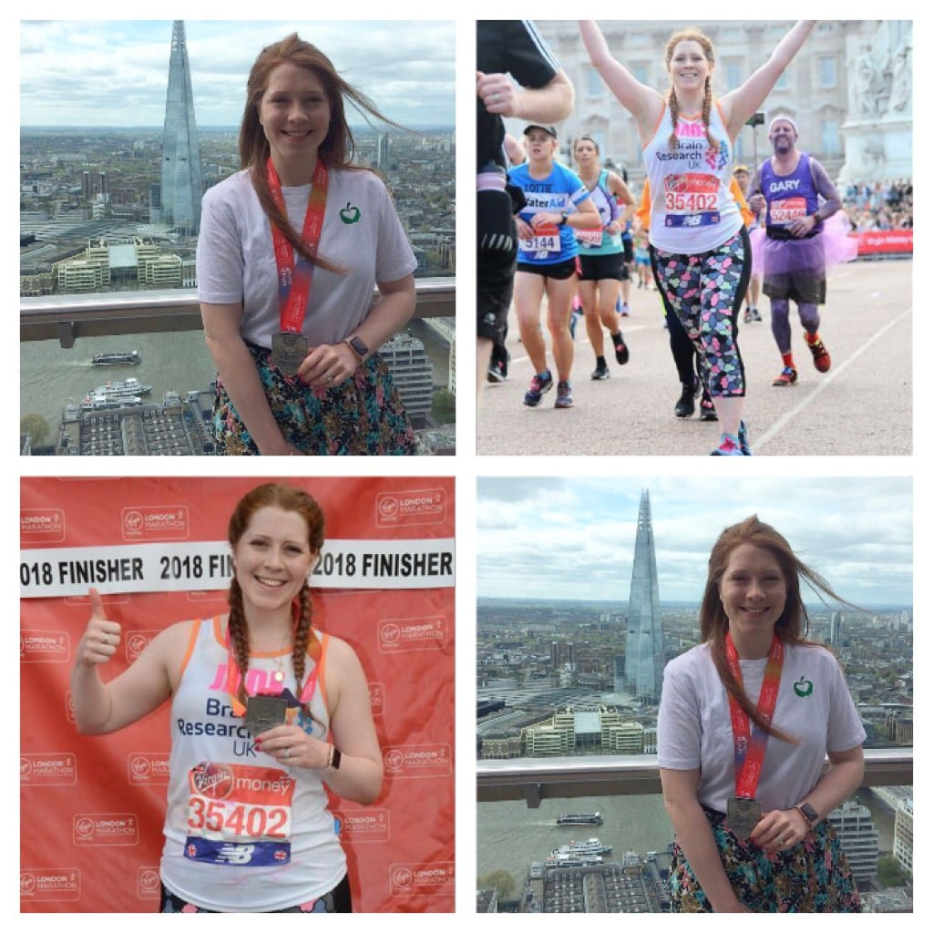 Collage of Marathon Runner Finishing Race